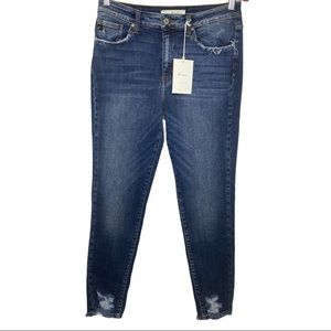 KanCan High Rise Super Skinny Frayed Jeans 13/30